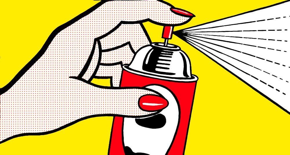 Roy Lichtenstein, Sprey Kutusu, Figür, Roy Lichtenstein, kanvas tablo, canvas print sales