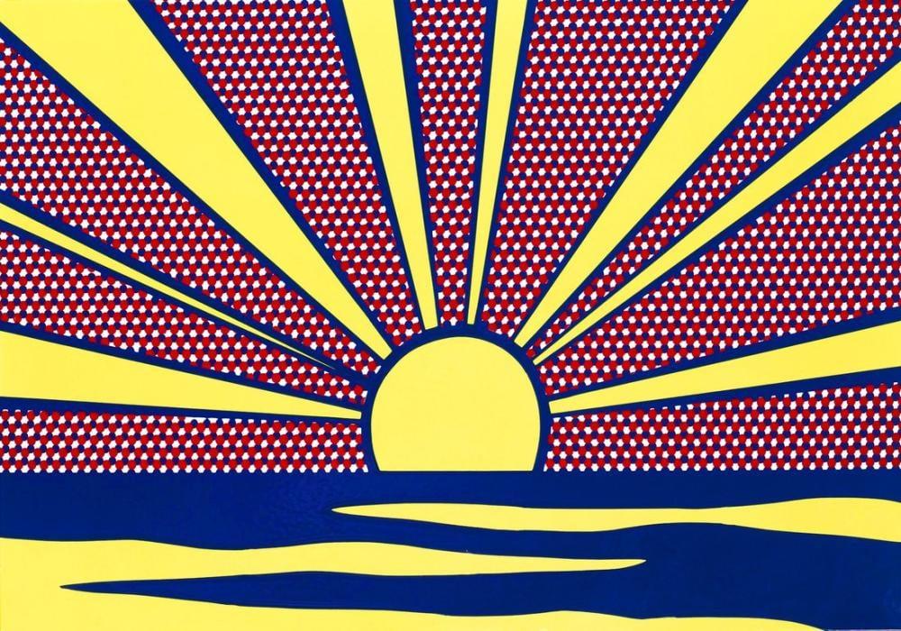 Roy Lichtenstein, Gün Batımı, Figür, Roy Lichtenstein, kanvas tablo, canvas print sales