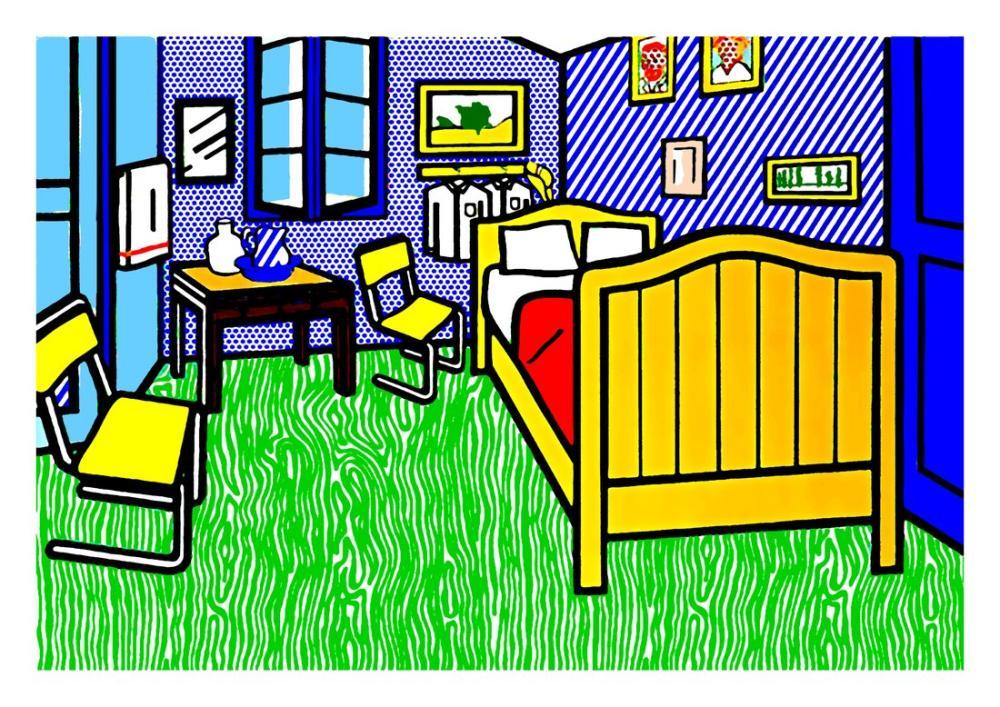 Roy Lichtenstein, Arles de Yatak Odası, Figür, Roy Lichtenstein, kanvas tablo, canvas print sales