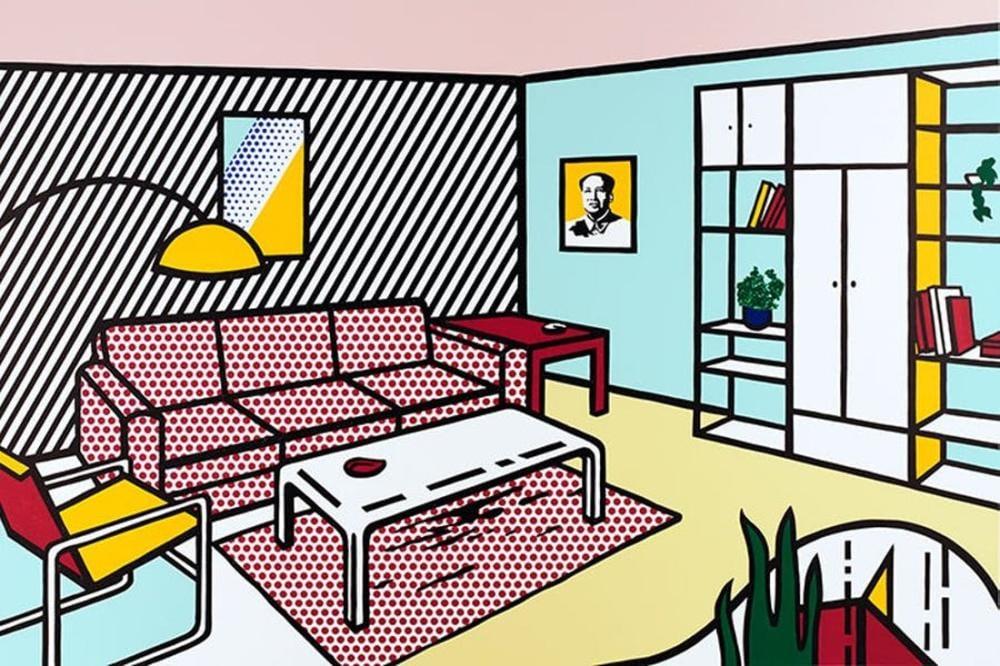 Roy Lichtenstein, Modern Oda, Figür, Roy Lichtenstein, kanvas tablo, canvas print sales