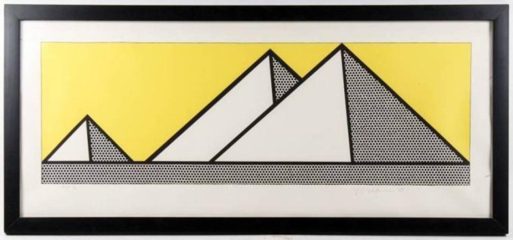 Roy Lichtenstein, Piramitler II, Figür, Roy Lichtenstein, kanvas tablo, canvas print sales