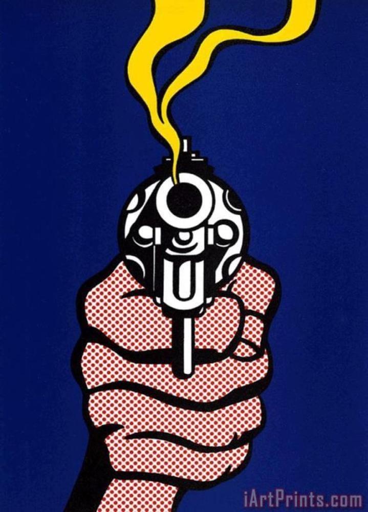 Roy Lichtenstein, Gun, Figure, Roy Lichtenstein, kanvas tablo, canvas print sales