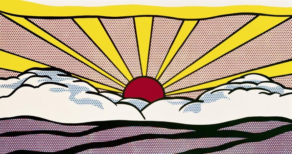 Roy Lichtenstein, Gündoğumu, Figür, Roy Lichtenstein, kanvas tablo, canvas print sales