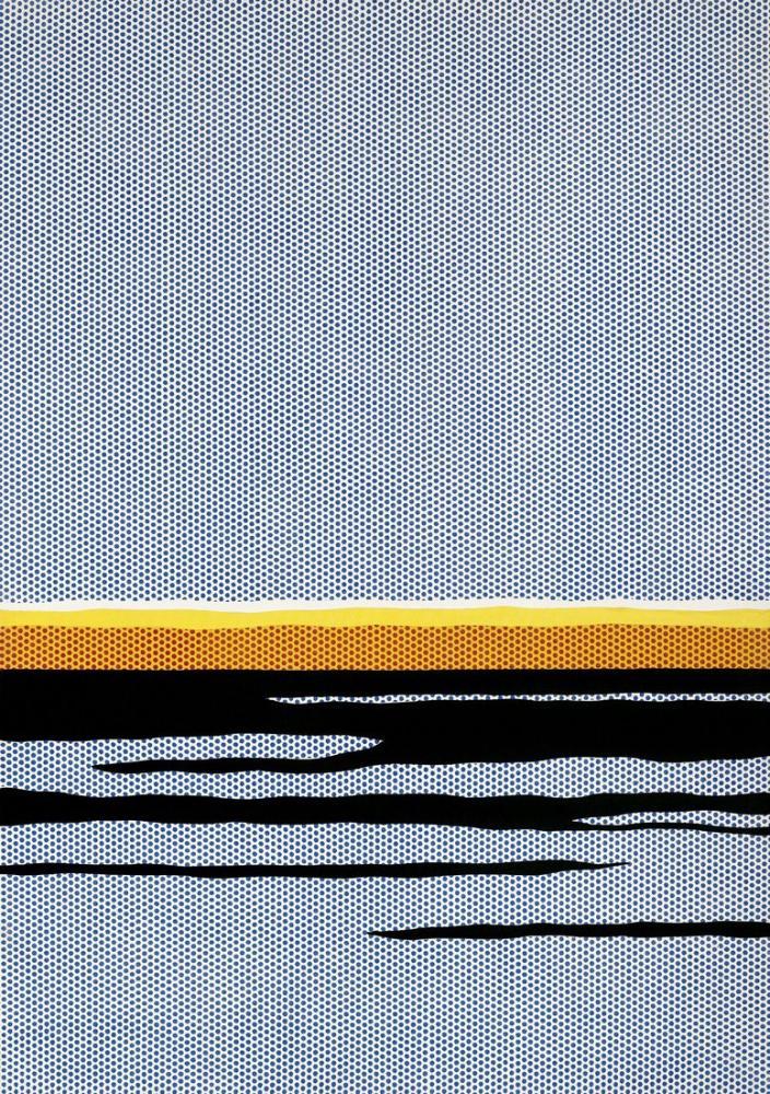 Roy Lichtenstein, Deniz Manzarası 2, Kanvas Tablo, Roy Lichtenstein, kanvas tablo, canvas print sales