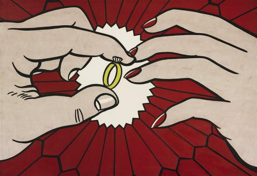Roy Lichtenstein, Yüzük, Figür, Roy Lichtenstein, kanvas tablo, canvas print sales