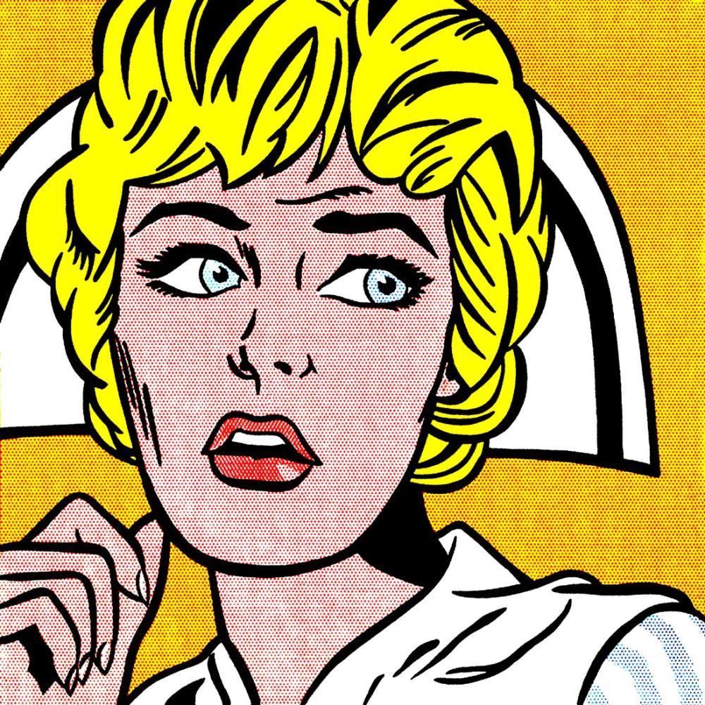 Roy Lichtenstein, Hemşire, Figür, Roy Lichtenstein, kanvas tablo, canvas print sales