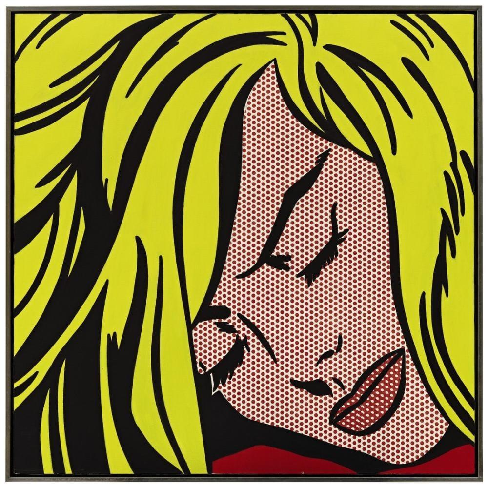 Roy Lichtenstein, Uyuyan Kız, Figür, Roy Lichtenstein, kanvas tablo, canvas print sales