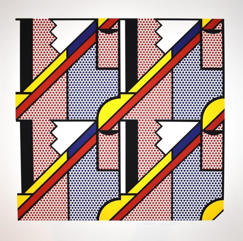 Roy Lichtenstein, Modern Baskı, Figür, Roy Lichtenstein, kanvas tablo, canvas print sales