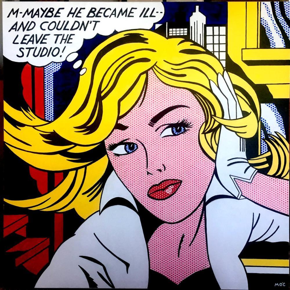 Roy Lichtenstein, Belki, Figür, Roy Lichtenstein, kanvas tablo, canvas print sales