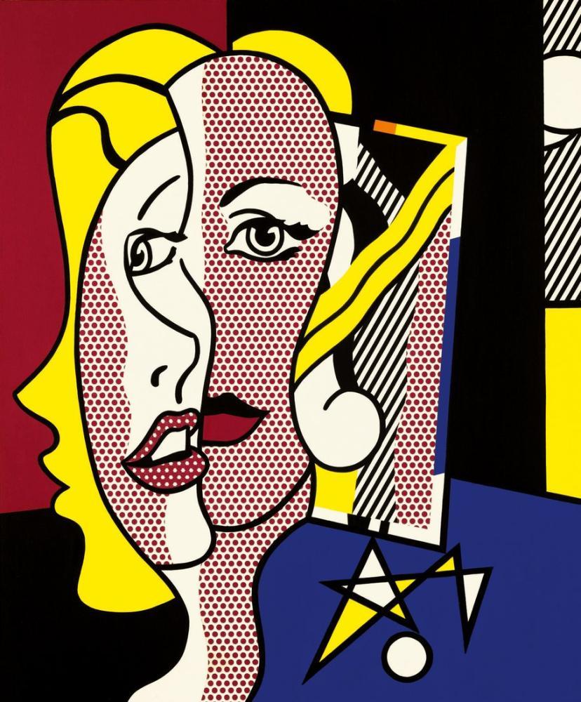 Roy Lichtenstein, Kadın Başı, Figür, Roy Lichtenstein, kanvas tablo, canvas print sales