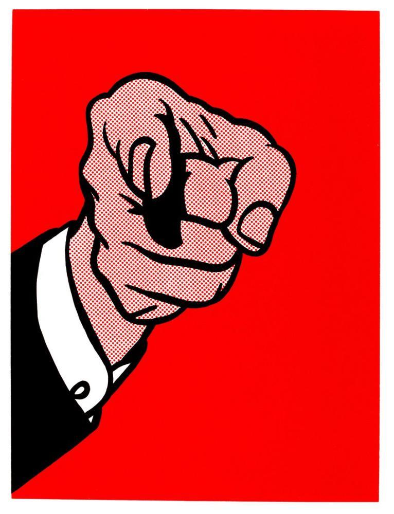 Roy Lichtenstein, Parmakla Göstermek, Figür, Roy Lichtenstein, kanvas tablo, canvas print sales
