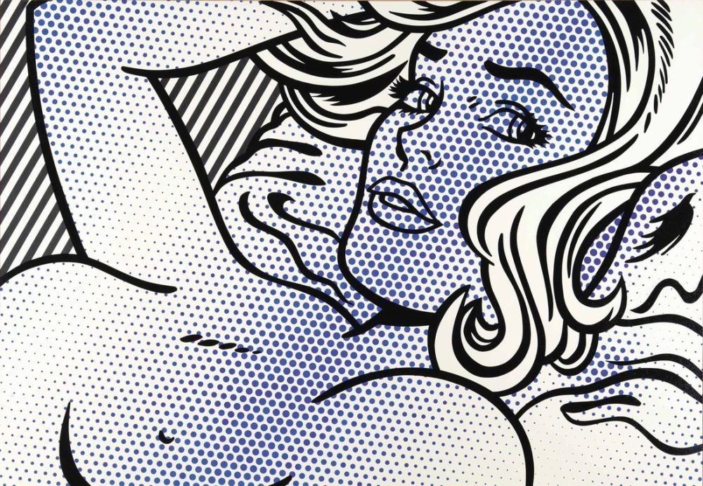 Roy Lichtenstein, Baştan Çıkarıcı Kız II, Figür, Roy Lichtenstein, kanvas tablo, canvas print sales