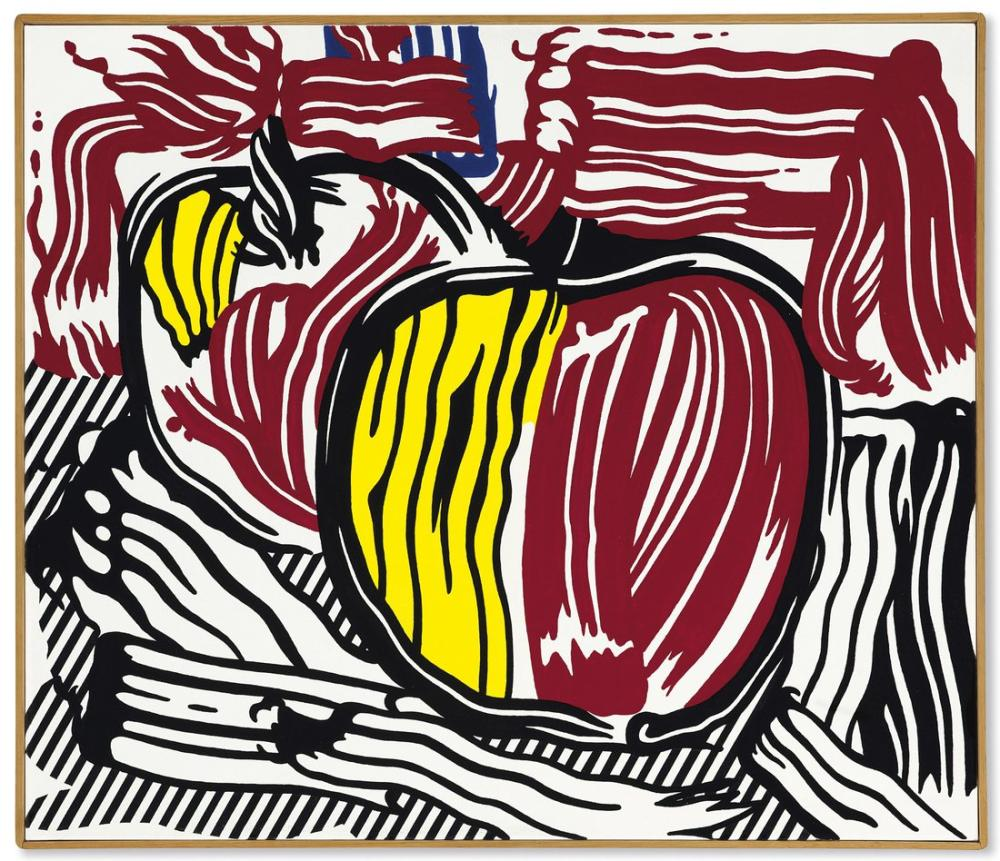 Roy Lichtenstein, İki Kırmızı ve Sarı Elmalar, Figür, Roy Lichtenstein, kanvas tablo, canvas print sales