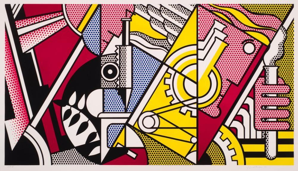 Roy Lichtenstein, Kimya Yoluyla Barış, Figür, Roy Lichtenstein, kanvas tablo, canvas print sales