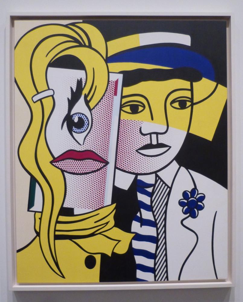 Roy Lichtenstein, Stepping Out, Figure, Roy Lichtenstein, kanvas tablo, canvas print sales