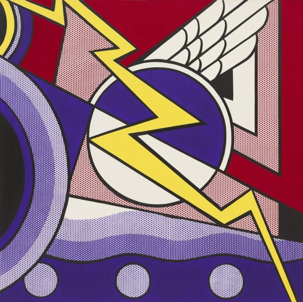 Roy Lichtenstein, Modern Painting with Bolt, Figure, Roy Lichtenstein, kanvas tablo, canvas print sales