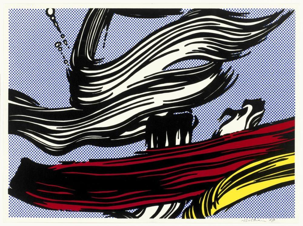 Roy Lichtenstein, Fırça Darbeleri, Figür, Roy Lichtenstein, kanvas tablo, canvas print sales