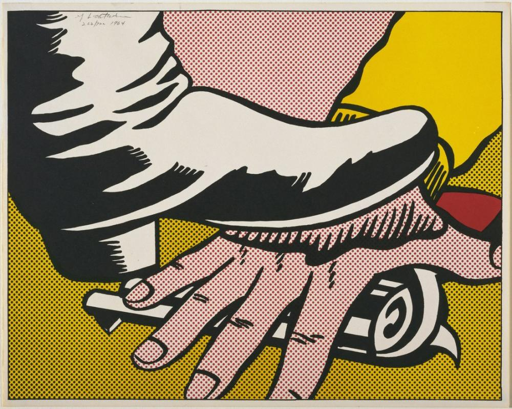 Roy Lichtenstein, Ayak ve El, Figür, Roy Lichtenstein, kanvas tablo, canvas print sales