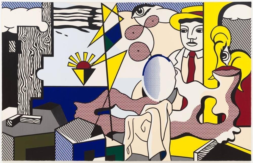 Roy Lichtenstein, Günbatımı ile Figürler, Figür, Roy Lichtenstein, kanvas tablo, canvas print sales