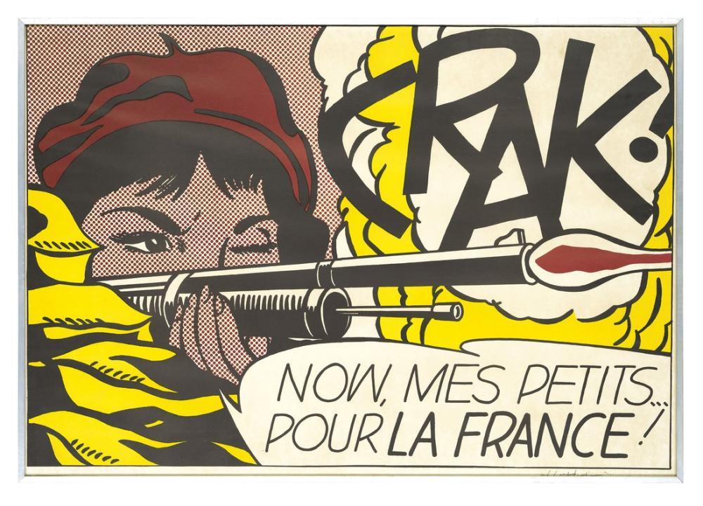 Roy Lichtenstein, Georgy Gurianov İnşaat İşçisi, Figür, Roy Lichtenstein, kanvas tablo, canvas print sales
