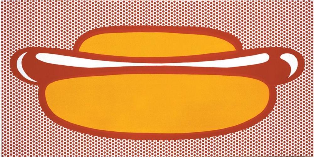 Roy Lichtenstein, Sosisli Sandviç, Figür, Roy Lichtenstein, kanvas tablo, canvas print sales