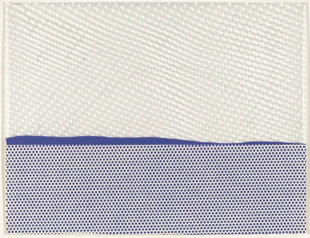 Roy Lichtenstein, Deniz Manzarası I, Figür, Roy Lichtenstein, kanvas tablo, canvas print sales