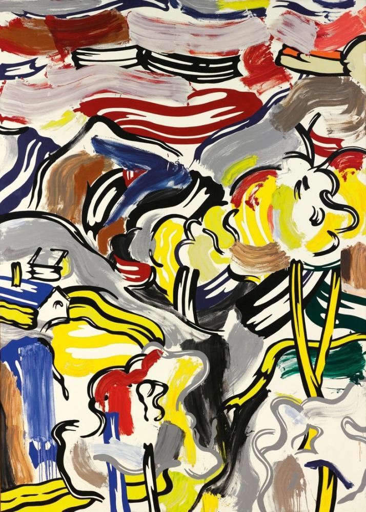Roy Lichtenstein, Soyut, Figür, Roy Lichtenstein, kanvas tablo, canvas print sales