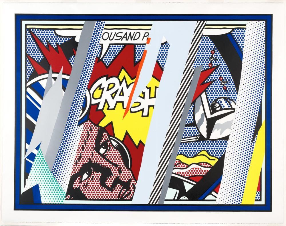 Roy Lichtenstein, Çarpışma Üzerine Düşünceler, Figür, Roy Lichtenstein, kanvas tablo, canvas print sales