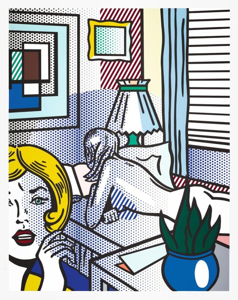 Roy Lichtenstein, Oda Arkadaşı, Figür, Roy Lichtenstein, kanvas tablo, canvas print sales