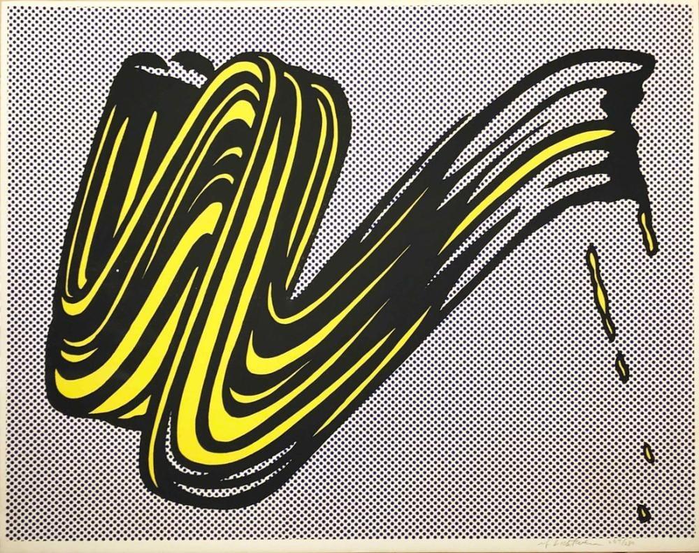 Roy Lichtenstein, Fırça Darbesi, Figür, Roy Lichtenstein, kanvas tablo, canvas print sales
