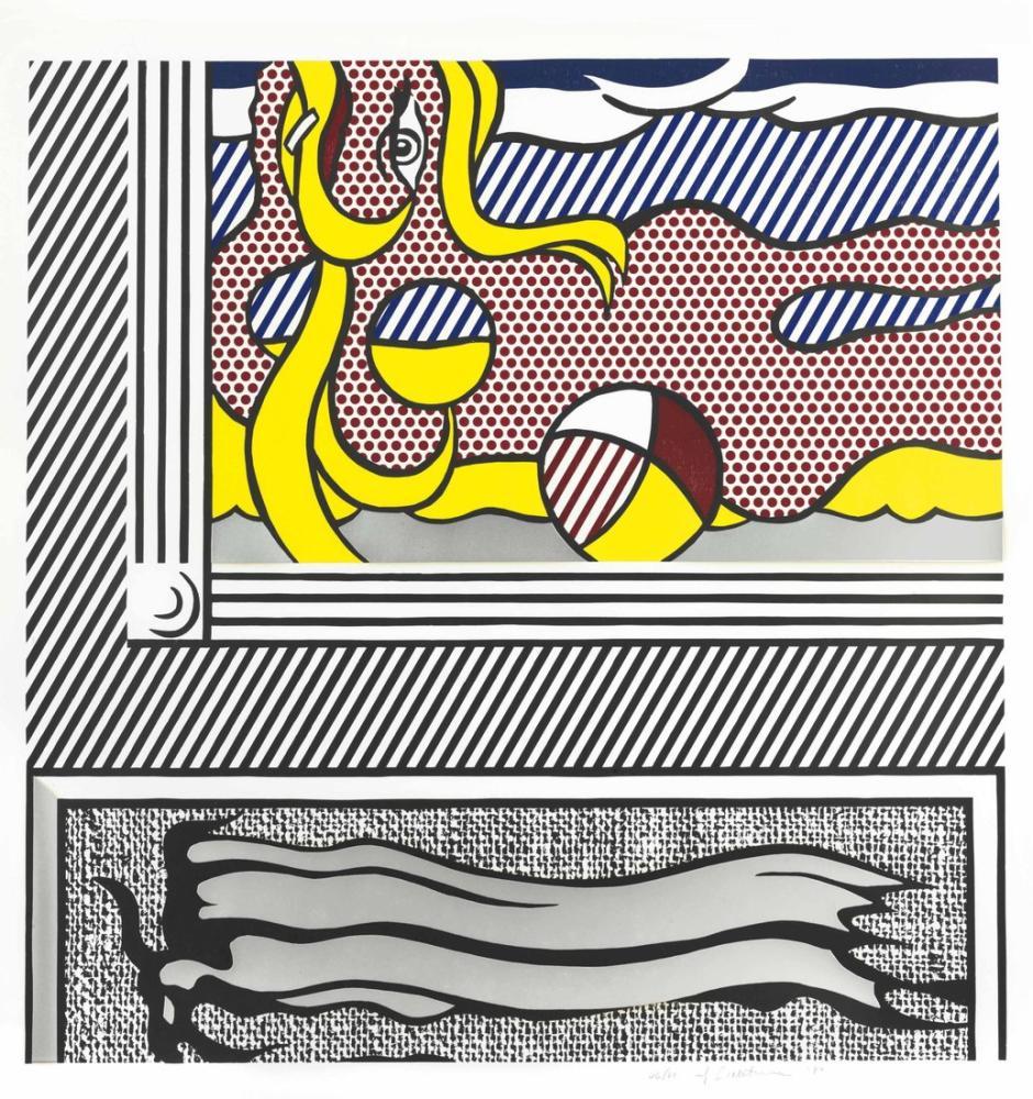 Roy Lichtenstein, İki Resim Plaj Topu, Figür, Roy Lichtenstein, kanvas tablo, canvas print sales