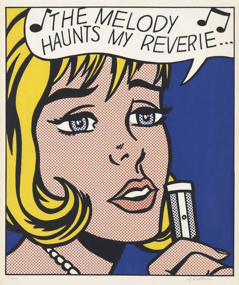 Roy Lichtenstein, The Melody Haunts My Reverie, Figür, Roy Lichtenstein, kanvas tablo, canvas print sales