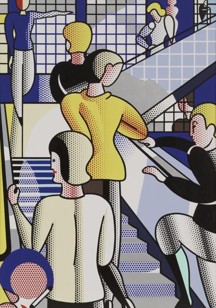 Roy Lichtenstein, Bauhaus Merdiven, Figür, Roy Lichtenstein, kanvas tablo, canvas print sales