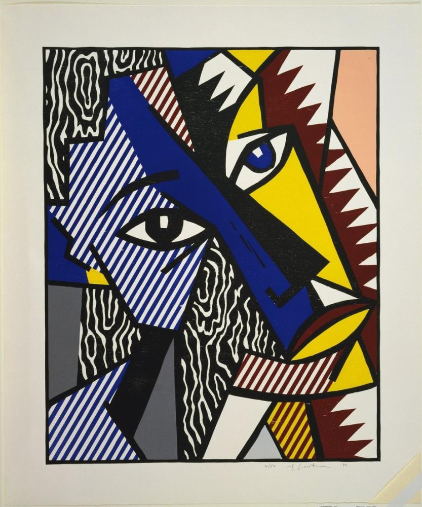 Roy Lichtenstein, Expressionist Head, Figure, Roy Lichtenstein, kanvas tablo, canvas print sales