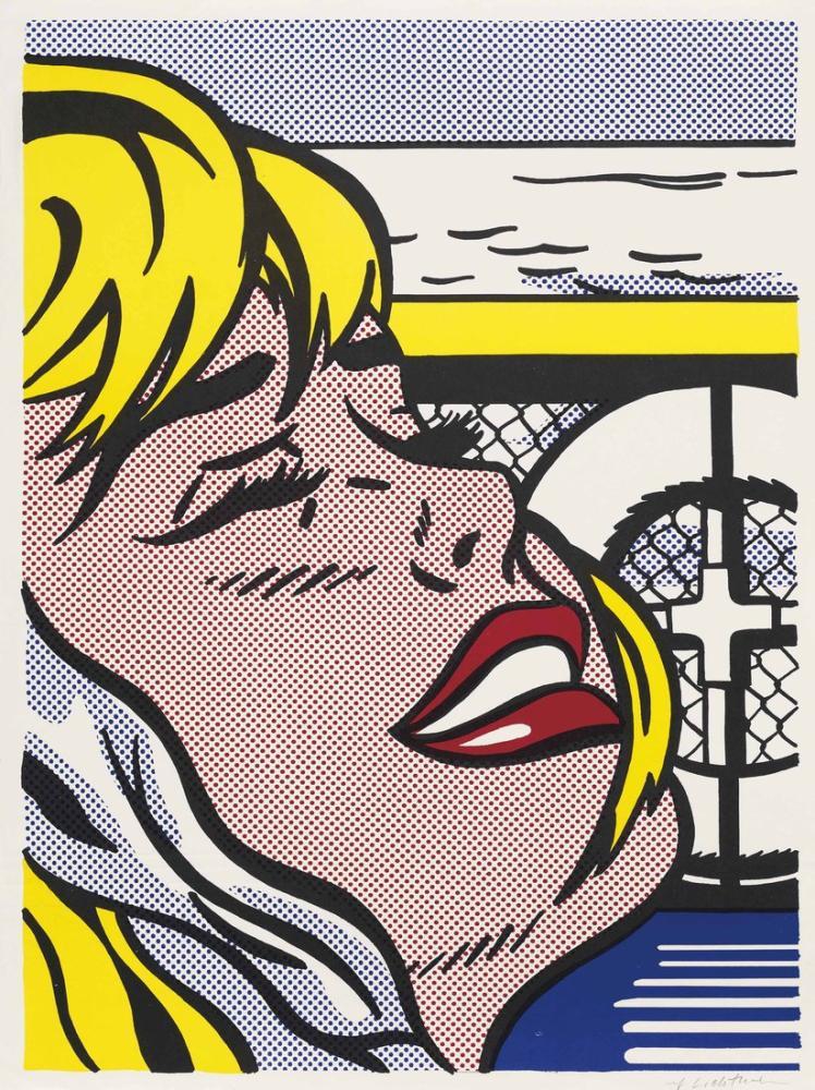 Roy Lichtenstein, Gemi Kız, Figür, Roy Lichtenstein, kanvas tablo, canvas print sales
