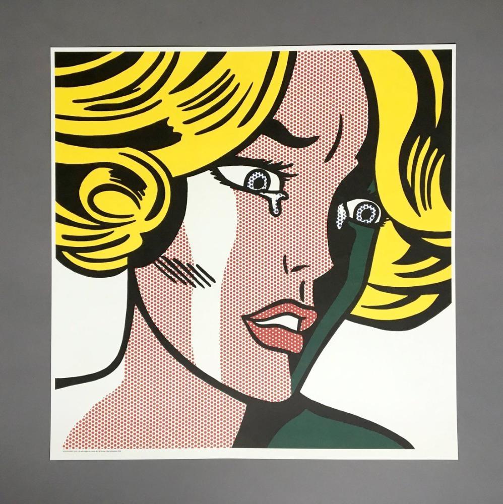 Roy Lichtenstein, Korkmuş Kız, Figür, Roy Lichtenstein, kanvas tablo, canvas print sales