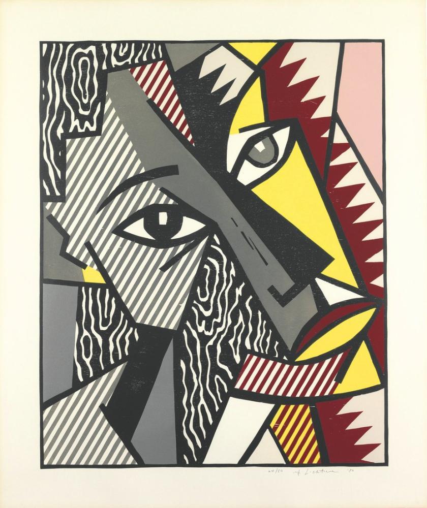 Roy Lichtenstein, Gemini Gel, Figür, Roy Lichtenstein, kanvas tablo, canvas print sales
