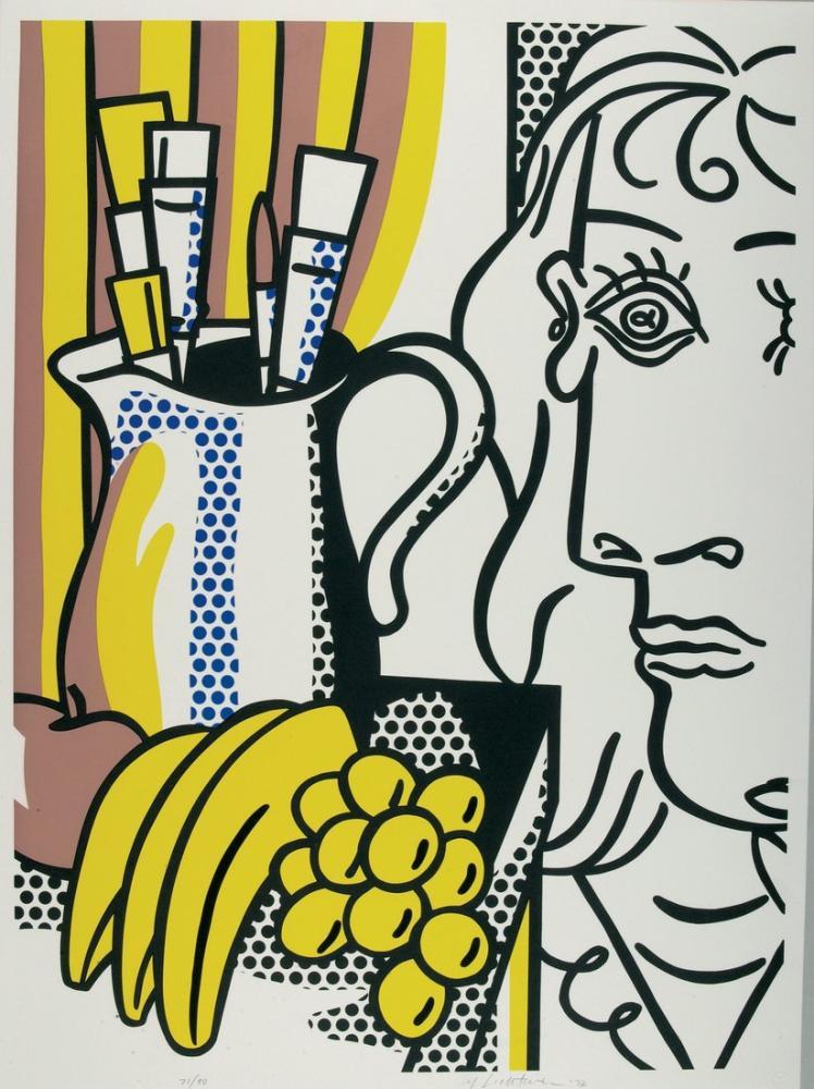 Roy Lichtenstein, Picasso ile Natürmort, Figür, Roy Lichtenstein, kanvas tablo, canvas print sales