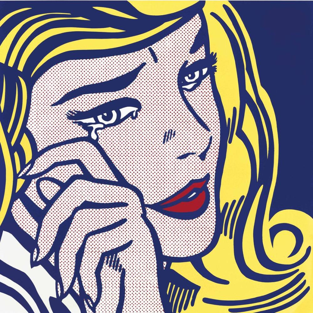 Roy Lichtenstein, Ağlayan Kız, Figür, Roy Lichtenstein, kanvas tablo, canvas print sales