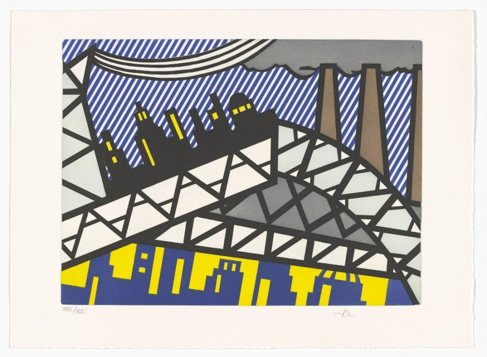 Roy Lichtenstein, Plate from La Nouvelle chute d Amérique, Figure, Roy Lichtenstein, kanvas tablo, canvas print sales