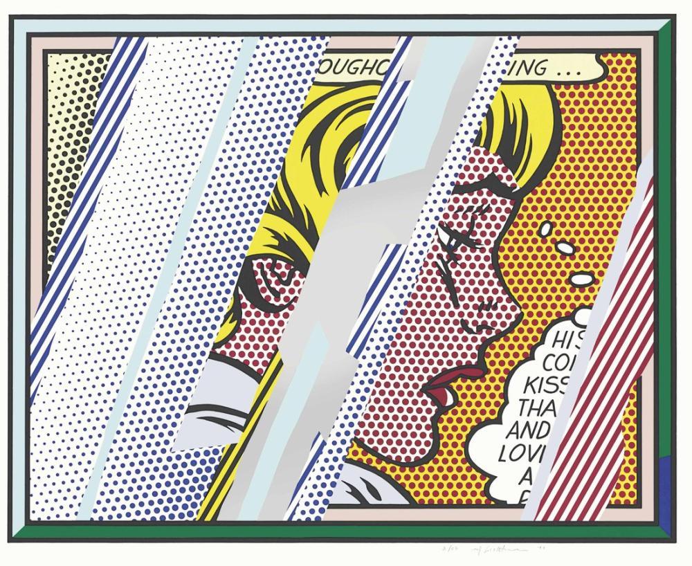 Roy Lichtenstein, Kız Üzerine Düşünceler, Figür, Roy Lichtenstein, kanvas tablo, canvas print sales