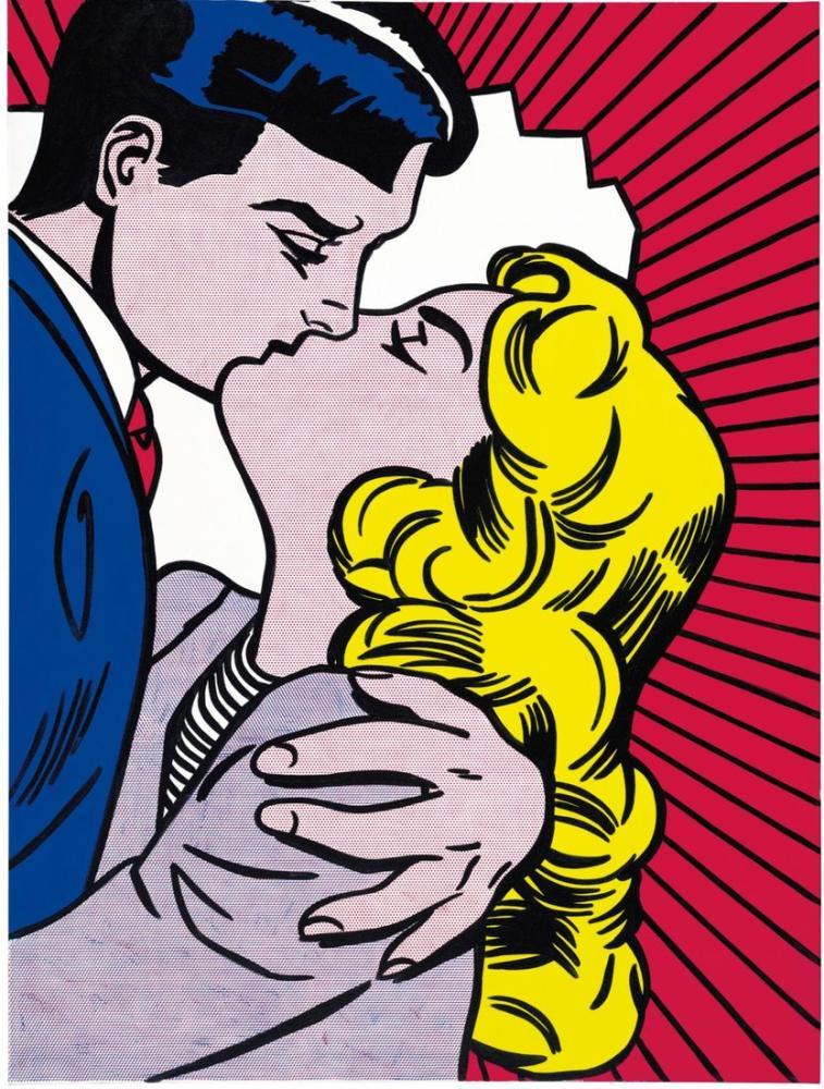 Roy Lichtenstein, Öpücük, Figür, Roy Lichtenstein, kanvas tablo, canvas print sales