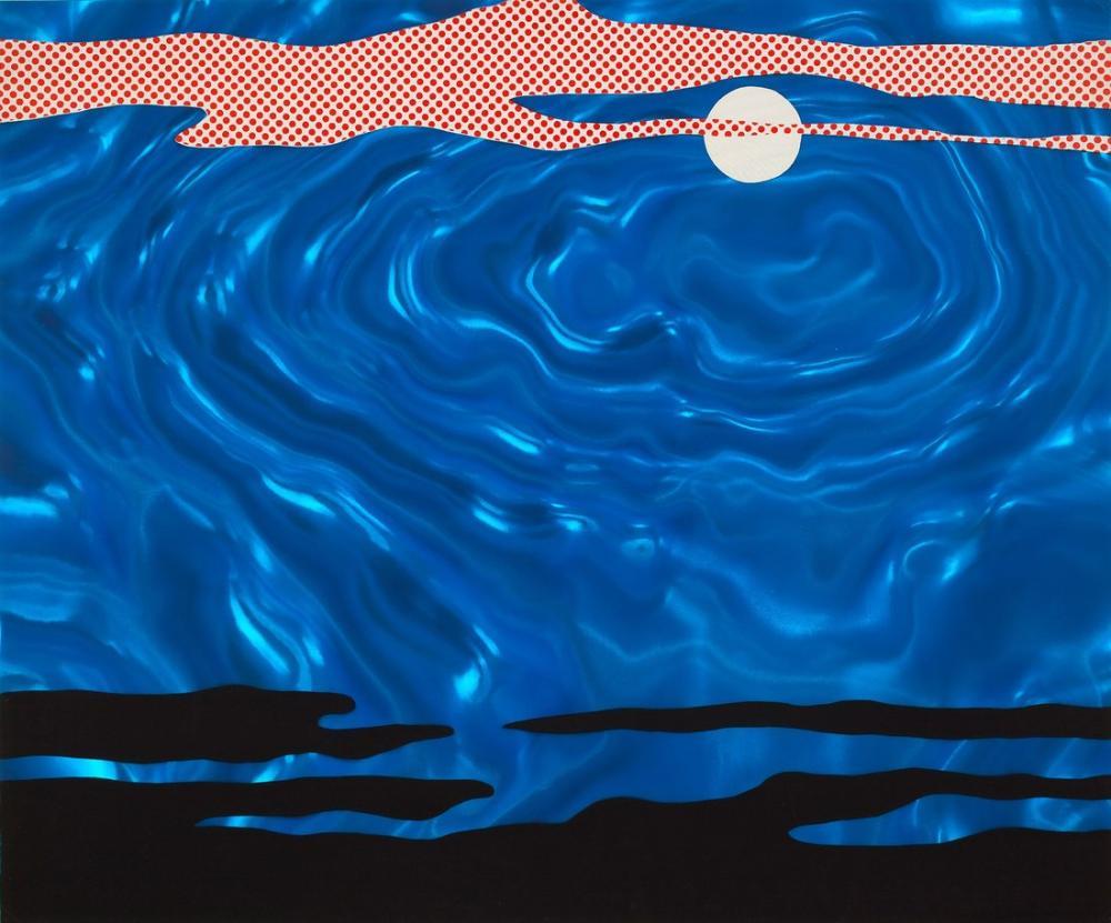 Roy Lichtenstein, Moonscape, Figure, Roy Lichtenstein, kanvas tablo, canvas print sales