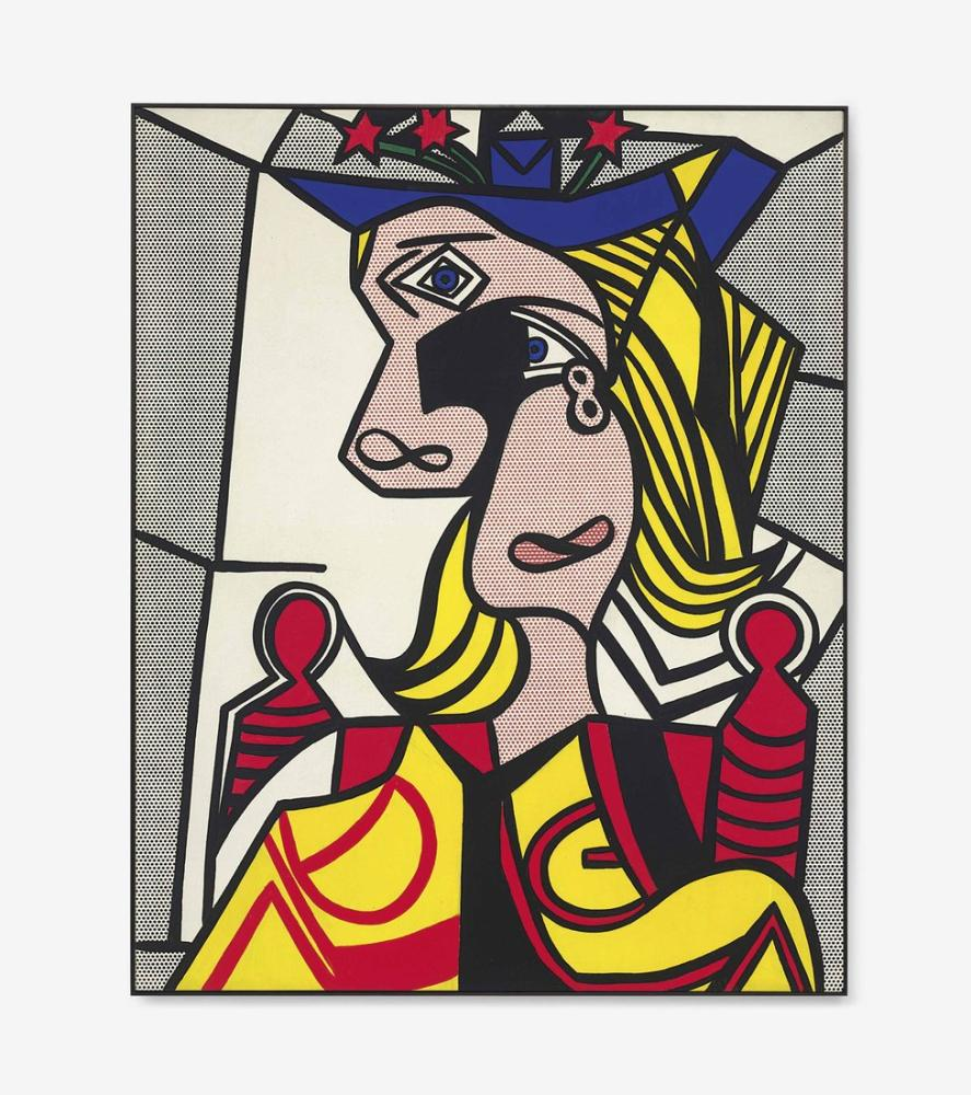 Roy Lichtenstein, Woman with Flowered Hat, Figure, Roy Lichtenstein, kanvas tablo, canvas print sales