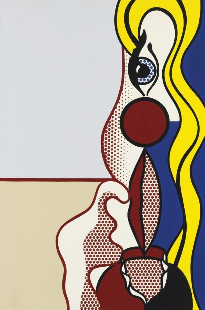 Roy Lichtenstein, Kadın Figürü 1978, Figür, Roy Lichtenstein, kanvas tablo, canvas print sales