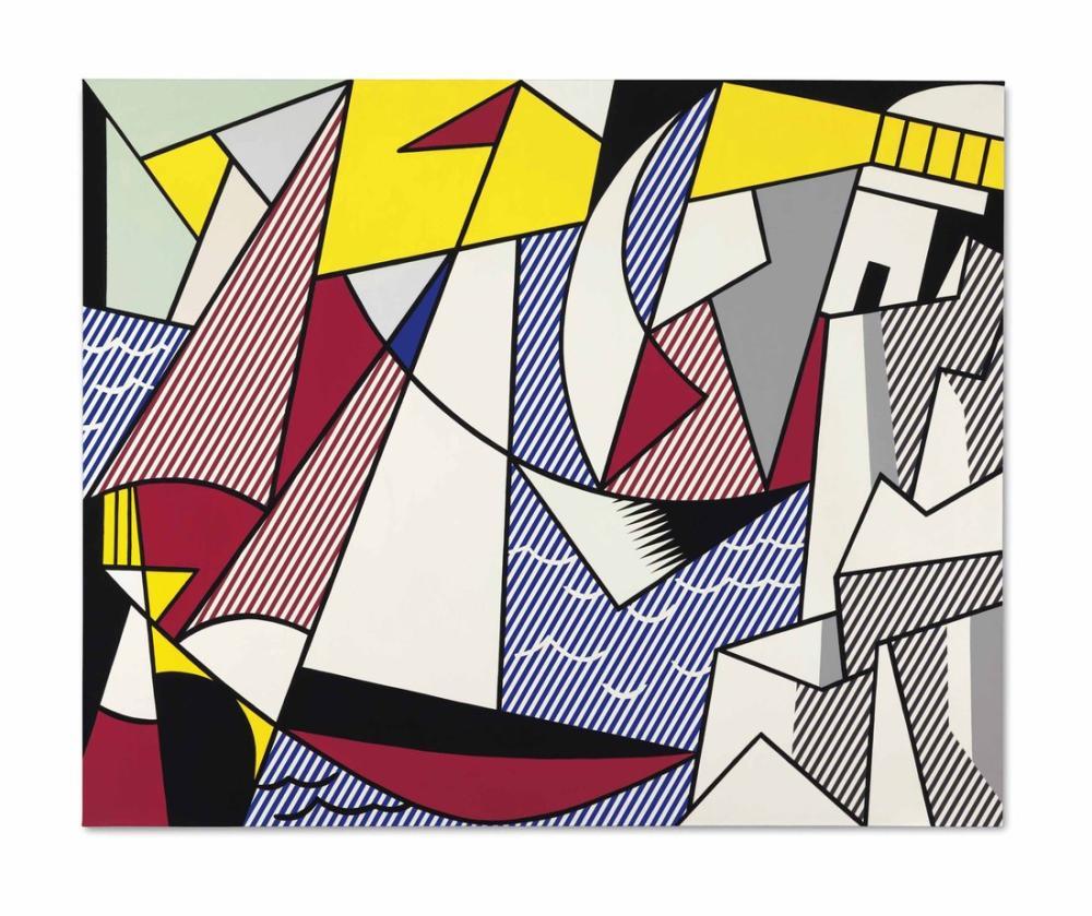Roy Lichtenstein, Sailboats, Figure, Roy Lichtenstein, kanvas tablo, canvas print sales