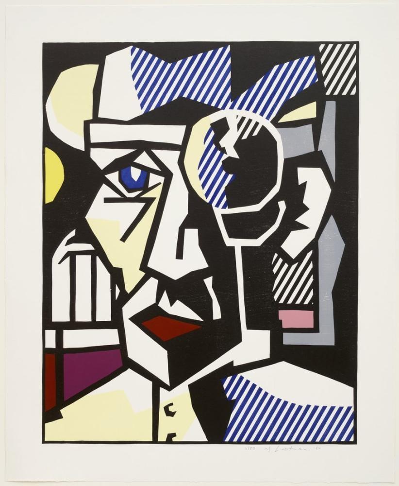 Roy Lichtenstein, Dışavurumcu Gravürler Dr. Waldmann, Figür, Roy Lichtenstein, kanvas tablo, canvas print sales