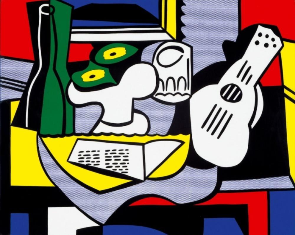 Roy Lichtenstein, Kübist Natürmort, Figür, Roy Lichtenstein, kanvas tablo, canvas print sales