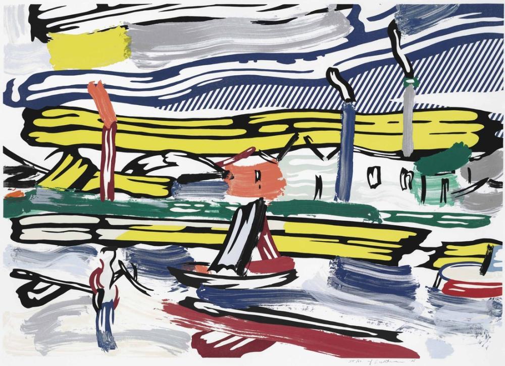 Roy Lichtenstein, Nehir, Figür, Roy Lichtenstein, kanvas tablo, canvas print sales