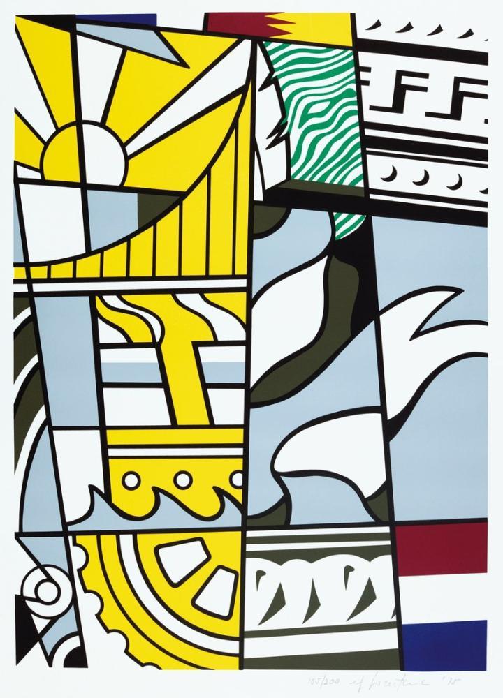 Roy Lichtenstein, İki Yüzyıllık Baskı, Figür, Roy Lichtenstein, kanvas tablo, canvas print sales